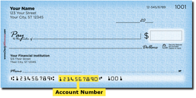 Anatomy Of A Personal Check Account Png When Entering Your Number